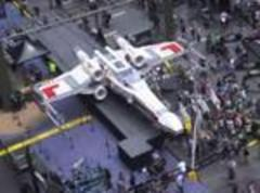 Biggest LEGO model ever, Star Wars X-Wing lands in Times Square
