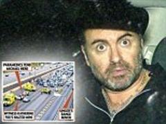did george michael hurl himself from his range rover at 70mph on the m1?