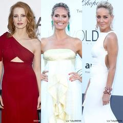 Jessica Chastain, Heidi Klum, Sharon Stone and More Glam Up amfAR's Gala 2013