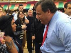 Snooki Ambushes Chris Christie at Jersey Shore