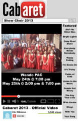 Wando Show Choir Performs Tonight and Saturday