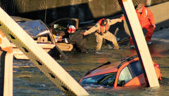 i-5 bridge collapse: vehicles plunged into water; main route cut off between seattle and canada
