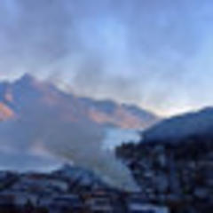 firefighters battling large blaze in central queenstown